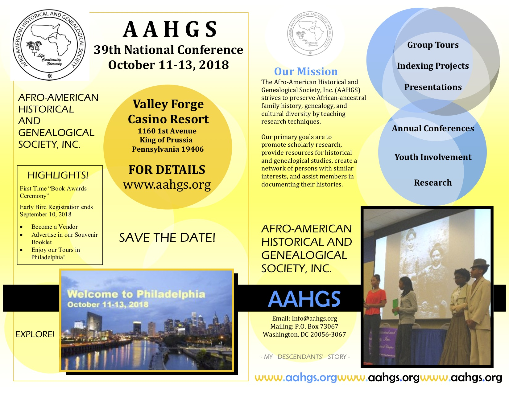 39th National AAHGS Conference